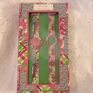 Lilly Pulitzer interchangeable watch set Patch Day